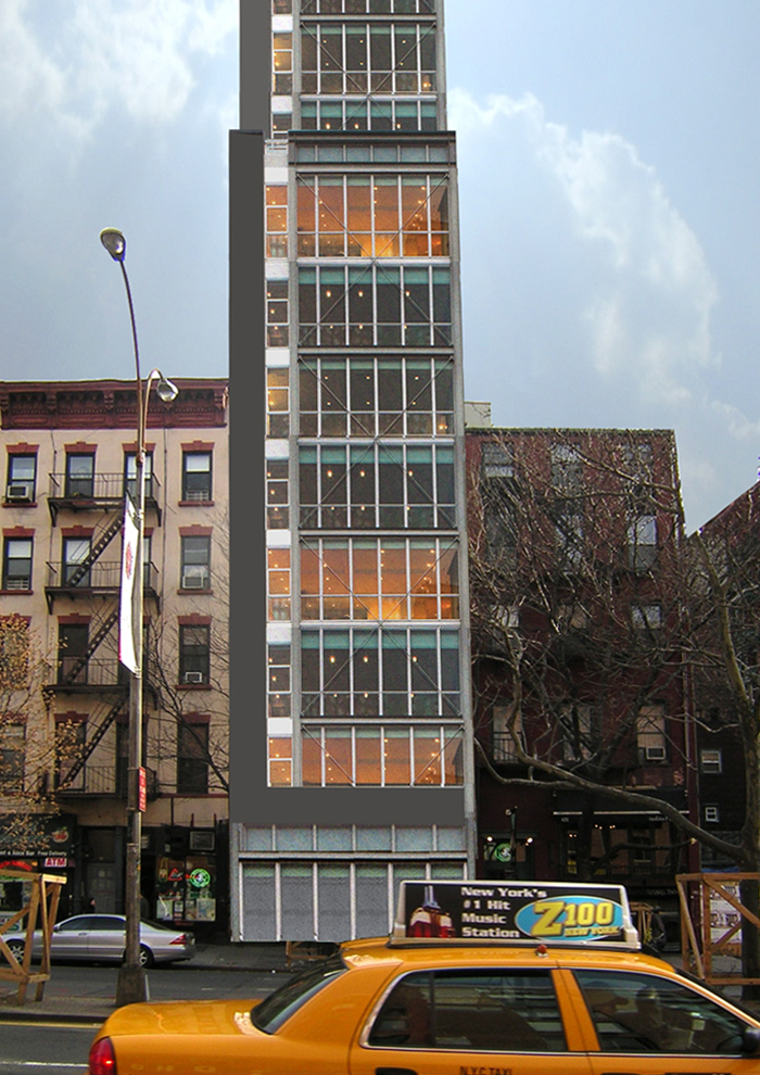 Architectural design proposal of a residential building in New York City