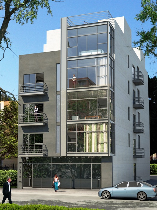 Architectural Design of a five story apartment building in Williamsburgh, Brooklyn, New York